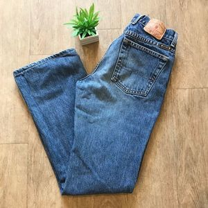 Lucky Brand Dungarees Flare Jeans Blue Size 4 27